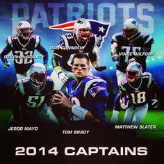 New England #Patriots - Team Captains. SOLID choices for sure