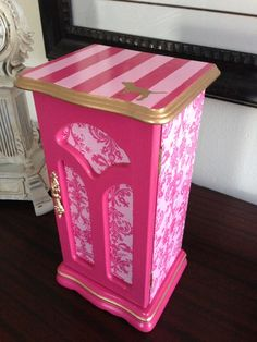 Box Upcycled To Victoriau0027s Secret Pink Inspired. $47.00