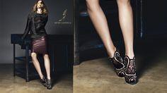 Masha V Gets Leggy for Rene Caovilla Fall 2014 Campaign