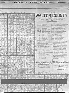 Farm map of Walton County 1908
