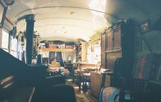 school bus house. by krista dzialoszynski, on Flickr  wow i really want a school bus house theyre so cute :)