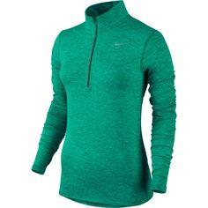 Maillot à demi-glissière Dri-FIT Element: Un vêtement séchant rapidement pour faciliter le passage d'une saison à l'autre. Ce maillot extensible est doté d'une demi-glissière pour évacuer la chaleur lorsque vous