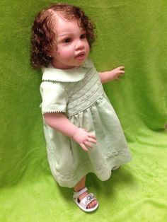 "Reborn Biracial or Latina Toddler ""Timone"" by Jannie De Lange Lauscha Glass eyes"