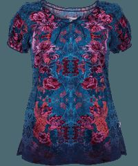 Peaches Scrubs Majestic Beauty Print Top