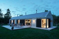 This holiday house was designed around the idea of creating a modern barn