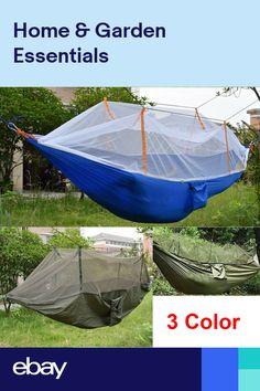 e8903f93889 Portable Nylon Fabric Hammock With Mosquito Net Garden Jungle Camping Tent  New
