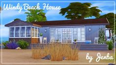 Jenba Sims: Windy beach house • Sims 4 Downloads