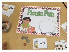 Spring Math Centers   Time, addition, money, place value, math -This product contains four spring themed math centers focusing on two digit addition, place value, money, and time. Each activity is hands on and can be adapted to your students' needs with the provided blank cards. Contents: Two Digit Addition with or without regrouping cover sheet direction card bubble number cards 1-99 blank bubble cards addition mat tens and ones mat recording sheets Place Value Match cover sheet directio...