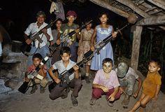 1984. Campamento guerrillero en Guazapa.