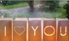 I Love You Candle Bags | I Love You Lanterns - Pink Frosting Wedding Shop