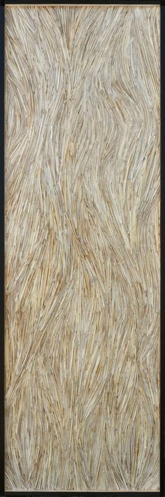 Meander (Meadow Grass and Encaustic on Wood)- SUSIE FRAZIER