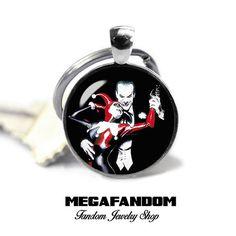 Joker and Harley Quinn Keyring Keyfob Joker and Harley Quinn Keychain Gift for Him Gift for Her Comics Accessories