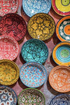 Traditional Ceramic Moroccan Art Print by Guyberresfordphotography. All prints are professionally printed, packaged, and shipped within 3 - 4 business days. Choose from multiple sizes and hundreds of frame and mat options. Moroccan Plates, Moroccan Colors, Moroccan Art, Moroccan Interiors, Moroccan Design, Diy Art, Keramik Design, Bohemian Decor, Bohemian Bedrooms