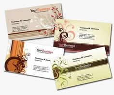 4 More Personal Business Cards in Earth Tones