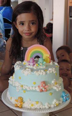 Care bear cake for Alexa's 5th birthday party!