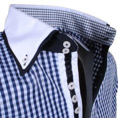Exclusive trendy Italian blue checkered dress shirt http://eurodress.co.nz?utm_content=buffer79216&utm_medium=social&utm_source=pinterest.com&utm_campaign=buffer Sign up for our newsletter to get 15% off! #menswear #fashion #european #trendy