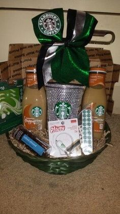 Starbucks Gift Basket - DIY Christmas Gifts for Teen Girls
