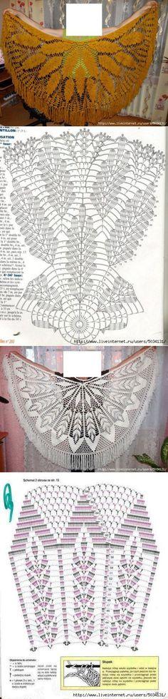 Semicircular shawls.