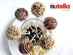 Cake pops de Nutella (Bizcobolas) -- Vídeo receta (Paso a paso)