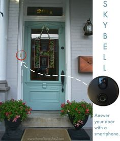 So cool! A video doorbell that you can answer from anywhere with your phone. Click for giveaway.