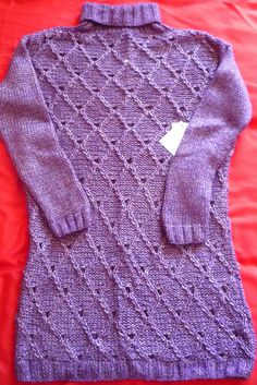Ladies Hand-knitted Chunky Polo Neck Sweater