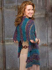 Knit - Villa d'Este Shawl Knit Pattern - #RAK0471