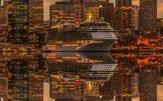 Lights of wharf