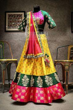 date party outfit Designer Bridal Lehenga, Indian Bridal Lehenga, Indian Bridal Fashion, Indian Bridal Wear, Indian Wedding Outfits, Indian Outfits, Indian Wear, Half Saree Designs, Choli Designs
