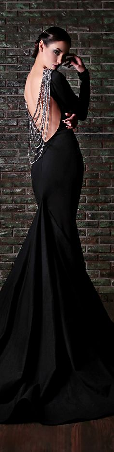 Rami Kadi ● Couture  Little black murder dress