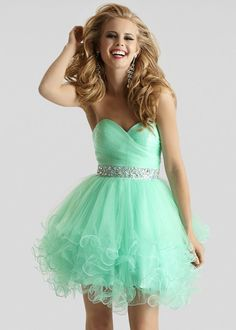 Clarisse 2303 -  Mint Strapless Prom Dresses Online