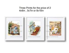 Winnie the pooh nursery prints set / 3 print set by IslandWest, $24.99