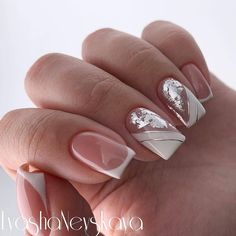 23 Best Gel Nail Designs to Copy in 2019 Elegant Nail Designs, Pretty Nail Designs, Simple Nail Art Designs, Oval Nails, Pink Nails, Glitter Nails, Cute Nails, Pretty Nails, Pretty Nail Colors