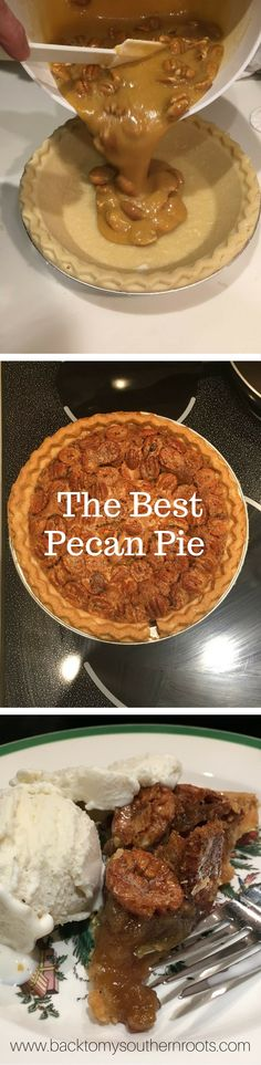 My dad's pecan pie recipe is a simple, delicious, and easy recipe to make. It is great for holidays, including Thanksgiving and Christmas. Pecans, Karo syrup, and butter all make this pecan pie a delicious dessert.