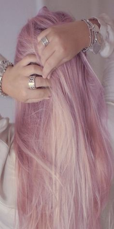 ~ long pastel pink hair ~