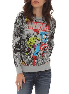 Marvel Avengers Reversible Girls Pullover Top | Hot Topic