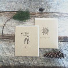 handmade holiday cards by Caroline ODonnell of Poppy & Leo.