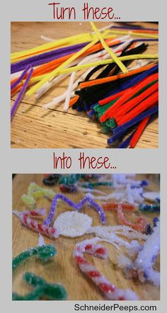 SchneiderPeeps - DIY Borax Crystal Ornaments are a really fun and frugal craft. Kids love to see how the pipe cleaners are transformed into beautiful crystals. And it's a great science experiment.