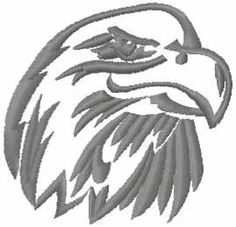 Eagle free embroidery design. Machine embroidery design. www.embroideres.com
