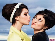 The hair and makeup! - Photos - Kendall and Kylie Jenner Show Style in March 2013 Issue of Glamour - 4 - Celebuzz
