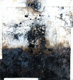 Dominic Couturier  Rubayat II   2006  Oil, gesso, tar, collage & mixed medium on board