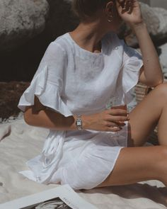 White linen, glass of rosé & Cartier watch . photo of Olja Ryz… -Learn how to dress for your body type, what to wear on a date, and where to shop on a budget Get the latest fashion trends for less with our fun, fearless fashion . New Outfits, Summer Outfits, Fashion Outfits, Womens Fashion, Fashion Tips, Fashion Trends, Latest Fashion, Fashion Quiz, Summer Ootd