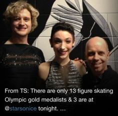 Charlie, Meryl and Scott Hamilton at Stars on Ice April 2014