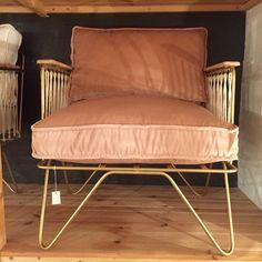 Fauteuil Honoré croisette velours rose poudré - My Little Bazar décoration pour chambre enfant