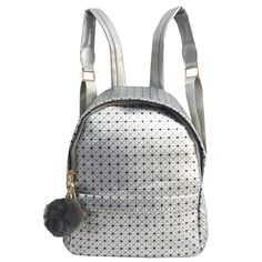 Mini Mochila, Fashion Backpack, Backpacks, Bags, Silver, Totes, Handbags, Backpack, Backpacker