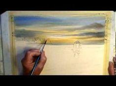 """Démo aquarelle """"coucher de soleil"""" (sunset watercolor tutorial) - YouTube"""
