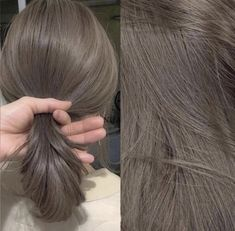 Ash Brown Hair Color, Hair Color Streaks, Hair Dye Colors, Light Brown Hair, Light Hair, Hair Color For Black Hair, Hair Color Underneath, Korean Hair Color, Haircuts Straight Hair