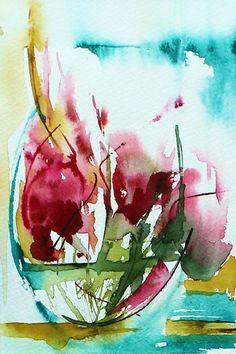 Red Flower 2. Artist: Veronique Piaser-Moyen