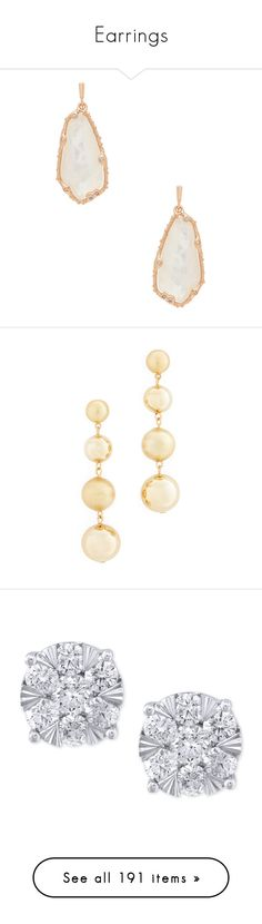 """Earrings"" by viiga ❤ liked on Polyvore featuring jewelry, earrings, 14k jewelry, dangle earrings, dangling jewelry, kendra scott earrings, kendra scott jewelry, gold, drop earrings and rebecca minkoff earrings"