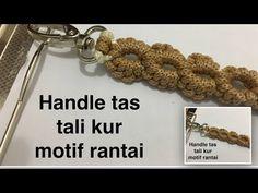 Cara Membuat Tali Tas Rajut Kepang (How To Make Braided Bag Strap) Crochet Belt, Crochet Shell Stitch, Love Crochet, Single Crochet, Macrame Purse, Point Lace, Macrame Tutorial, Crochet Videos, Knitted Bags