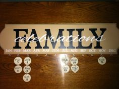 Family Celebrations - Birthday / Anniversary Calendar - Personalized Circles Included - Family Birthday Board on Etsy, $49.95